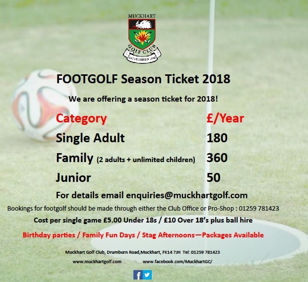 Season tickets 2018